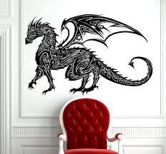 popular chinese wall dragon buy cheap chinese wall dragon lots tribal tattoo classic chinese dragon wall decal sticker decor wall art vinyl mural tribal antient dragon