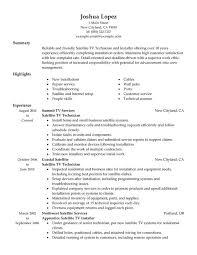 Example Resume For Maintenance Technician by Audio Visual Technician Cover Letter