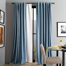 And White Curtains Blackout Curtain West Elm