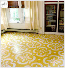 do you funky flooring painted wooden floors blue yellow