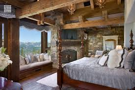 Bedroom With Area Rug Rustic Master Bedroom With Window Seat By Locati Architects