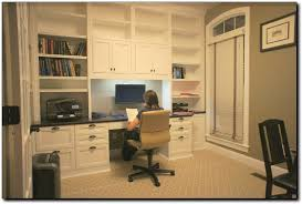 Home Office Small Desk Home Office Custom Built In Cabinets
