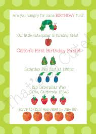 hungry caterpillar invitations template