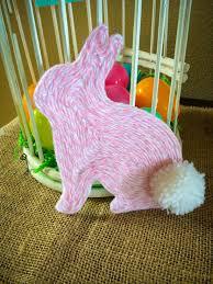 tutorial yarn art easter bunny dollar store mom