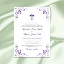 catholic wedding invitations catholic wedding invitation template diy printable purple