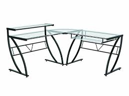 glass top l table amazon com z line belaire glass l shaped computer desk kitchen