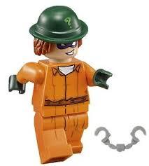 Prison Jumpsuit Lego Batman Movie Minifigure The Riddler Orange Arkham Prison