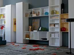 modular bookcase wall mounted contemporary wooden habitat