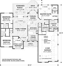 ranch style house plan 4 beds 3 50 baths 2000 sq ft plan 56 574
