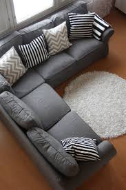 Discount Throw Pillows For Sofa by Grey Couch With Cool Pillows Could Also Add Some Accent Color