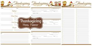 thanksgiving menu planner i m an organizing junkie