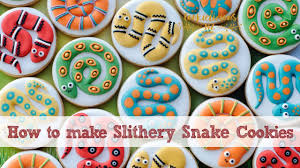 colourful snake cookies learn how to different snake