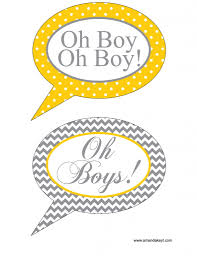excellent free baby shower photo booth props template for baby