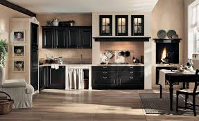 kitchen colors with black cabinets cabinet organization bread