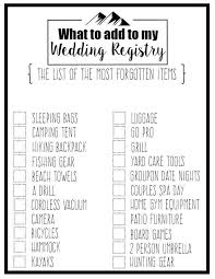 wedding regsitry wedding registry checklist printable baby shower gift delightful