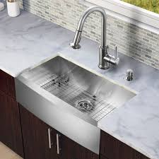 kitchen sink and faucet sets vigo all in one 33 inch farmhouse stainless steel kitchen sink and