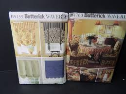 butterick waverly home décor sewing patterns b4760 b5159 home