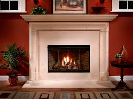 gas fireplace traditional closed hearth built in reveal