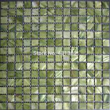 Mosaic Tiles Greenmother Of Pearl Tiles Inner Wall Tileskitchen - Cheap mosaic tile backsplash