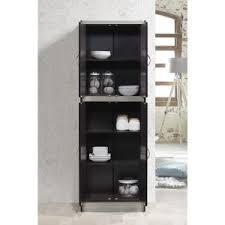 hodedah 4 door cabinet hodedah 4 door chocolate grey kitchen pantry hi224 choco grey the