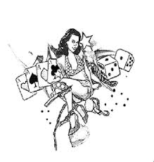 pinup and gambling tattoo design