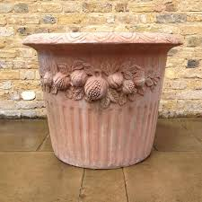a large pair of reclaimed terracotta pots v u0026v reclamation