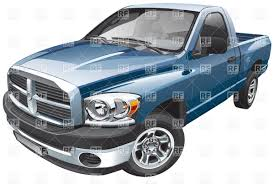 Old Ford Truck Vector - blue pickup truck clipart china cps
