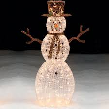 Lighted Christmas Decorations by Trim A Home 50 U201d Lighted Snowman Outdoor Christmas Decoration