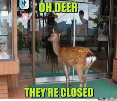 Oh Deer Meme - oh deer they re closed by clairvoyant meme center