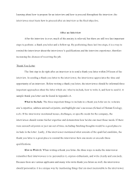 interviewee steps for success u2013 research paper