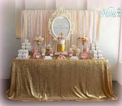 Pink And Gold Baby Shower Decorations by Gold And Dusty Pink Classic Girls Candy Buffet Candy Buffets