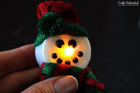 snowman crafts 5 minute light up magnet tutorial