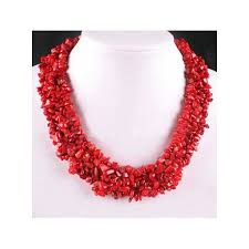 red big necklace images Big coral necklace jpg