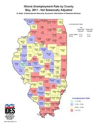Illinois River Map 2011 May Unemployment Map By Illinois County Great River