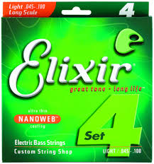 Medium Light Guitar Strings by Elixir Electric Bass 4 Strings Nanoweb Light Rainbow Guitars