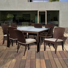 White Patio Dining Set - international home miami libsq 8sani br rolland 8 piece brown