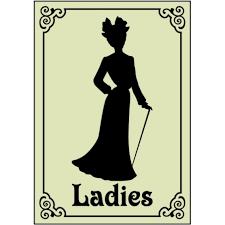 creative restroom signs victorian ladies 1