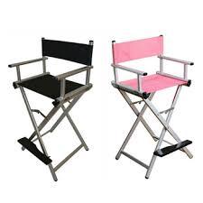 makeup stool for makeup artists silver black lightweight portable aluminum metal makeup chair