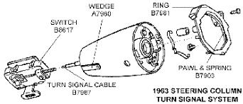 1968 corvette steering column 1964 66 steering column non teli 1963 67 catalog chicago corvette