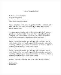 sample letter of resignation 9 examples in pdf word