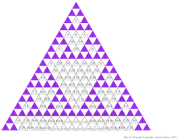 another sierpinski triangle pattern and more math fun