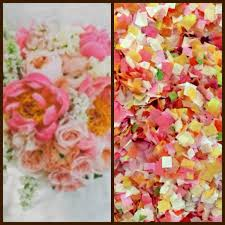 floral tissue paper summer floral pink orange yellow biodegradable confetti tissue