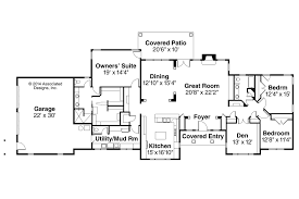 House Plan Plans Ranch Style Floor Rancher Open Home Remarkable
