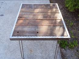 30 X 60 Dining Table Hammered Steel Dining Table With Hairpin Legs 30x48 Mt Hood Wood