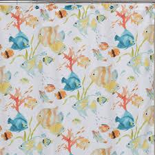 Multi Color Curtains Creative Bath Rainbow Fish Shower Curtain Multi Color Walmart