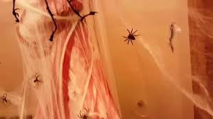 how to create a halloween spider den in your bathroom youtube