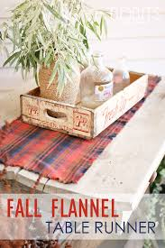 Coffee Table Runners Fall Flannel Table Runner Ella Claire