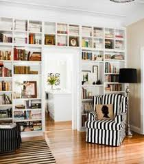Wall Bookcase Love The Huge Wall To Wall Bookcases In This Home Office Home