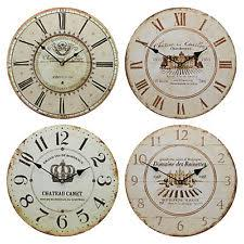 Large Shabby Chic Wall Clock by Unbranded French Country Wall Clocks With Roman Numerals Ebay