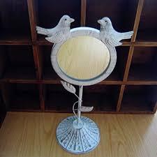 bureau trepied européenne fait vieux oiseau miroir de fer rétro bureau cosmétique